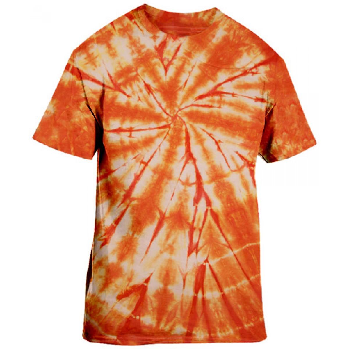 Essential Tie-Dye Tee-Orange-L