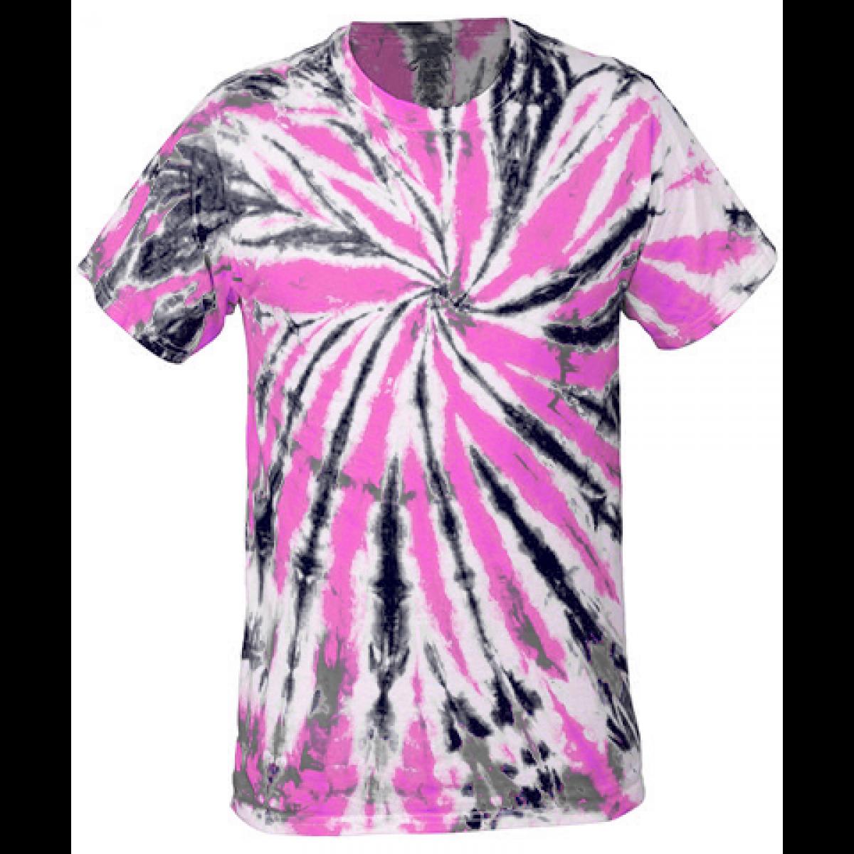 Multi-Color Tie-Dye Tee -Pink/Black-YL