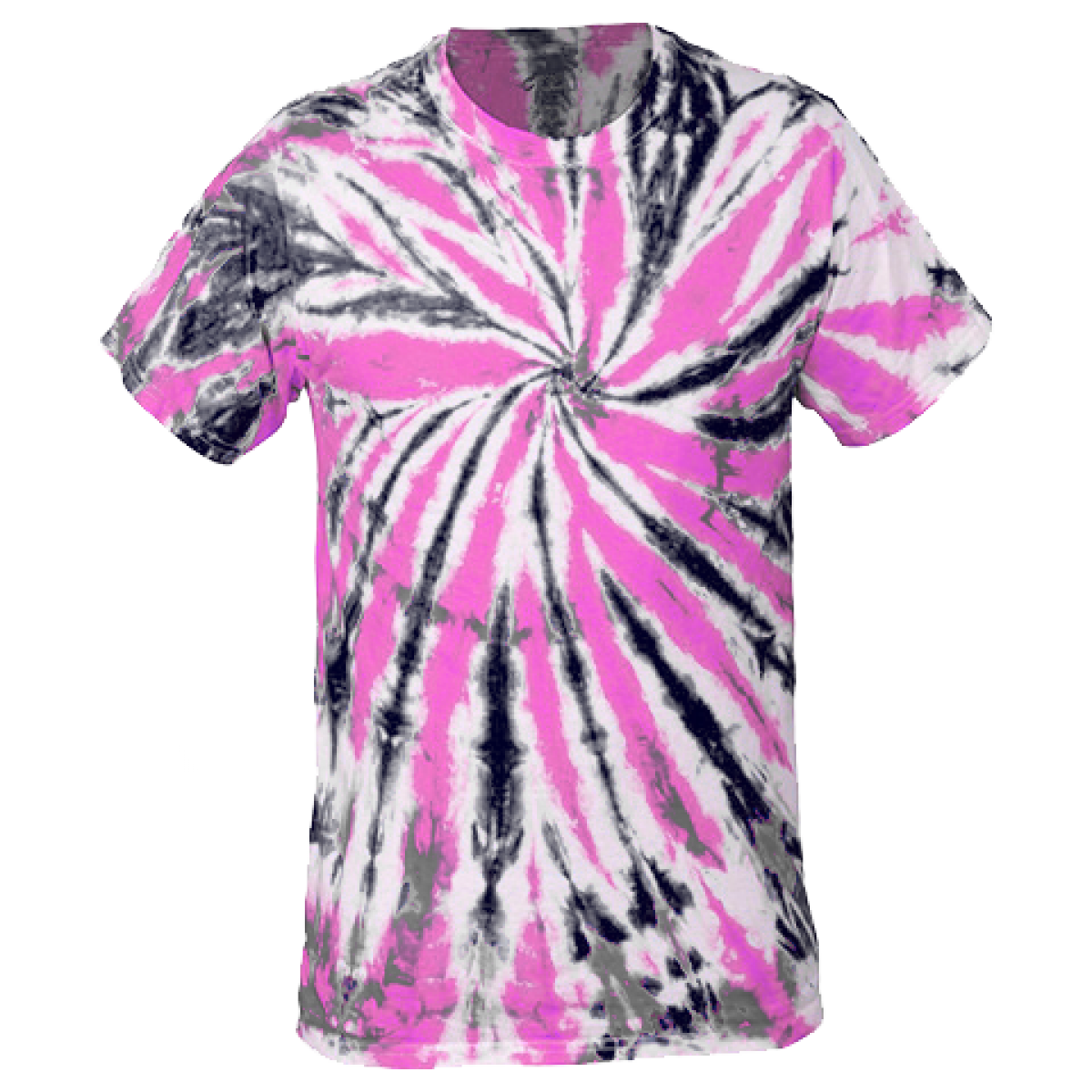 Multi-Color Tie-Dye Tee -Pink/Black-M