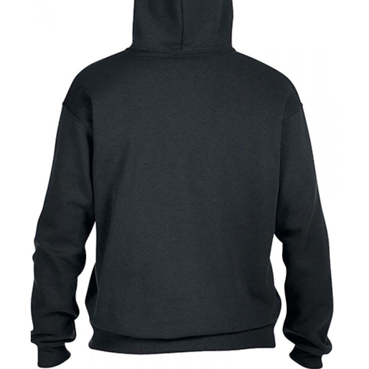Pullover Hood 50/50 Preshrunk Fleece-Black-XL
