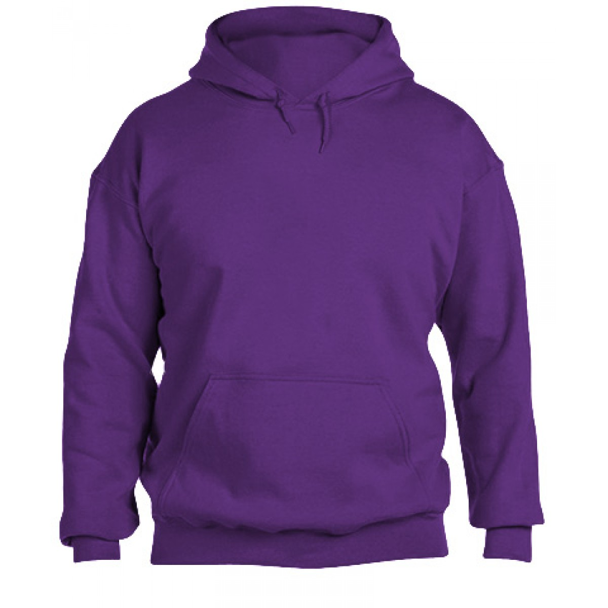 Hooded Sweatshirt 50/50 Heavy Blend -Purple-M