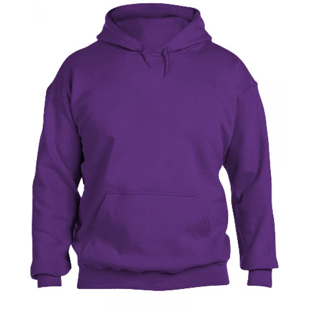 Hooded Sweatshirt  50/50 Heavy Blend-Purple-YL