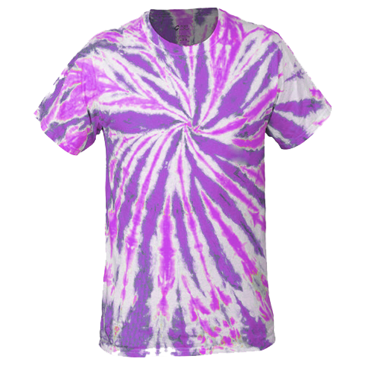 Multi-Color Tie-Dye Tee -Purple-S