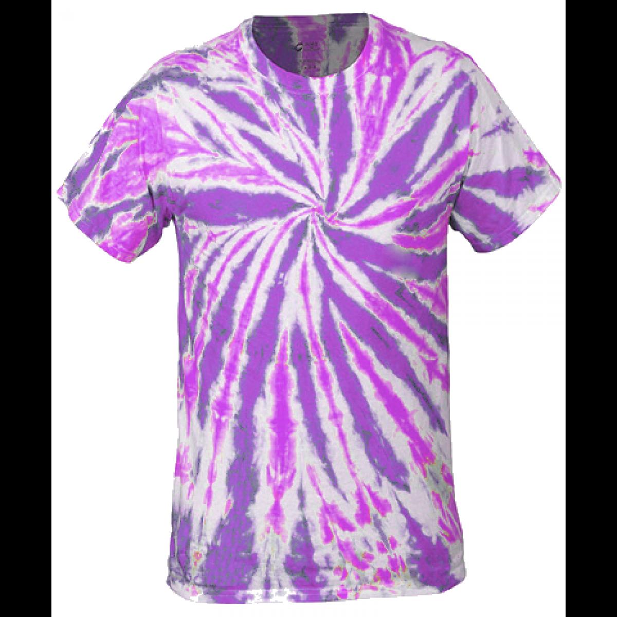 Multi-Color Tie-Dye Tee -Purple-L