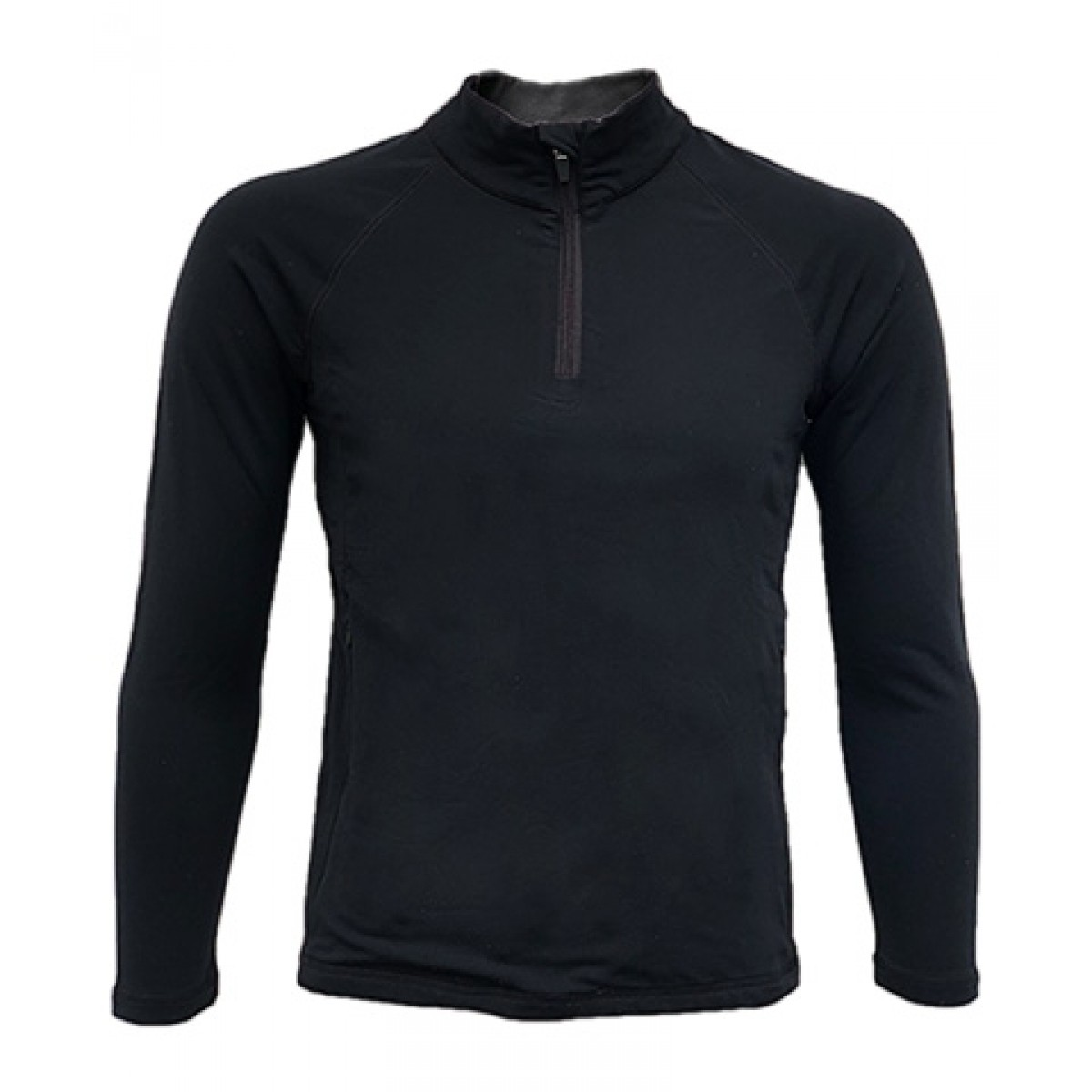 Quarter-Zip Lightweight Pullover LS-Black-L