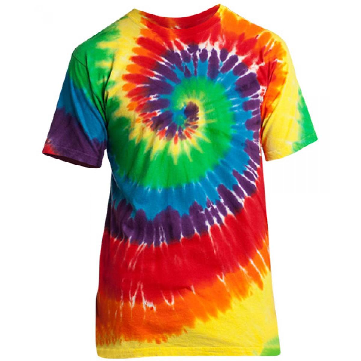 Tie-Dye Essential Tee-Rainbow-S