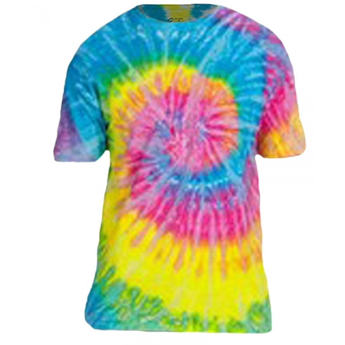 Cotton Short Sleeve T-Shirt / Tie Dye Rainbow