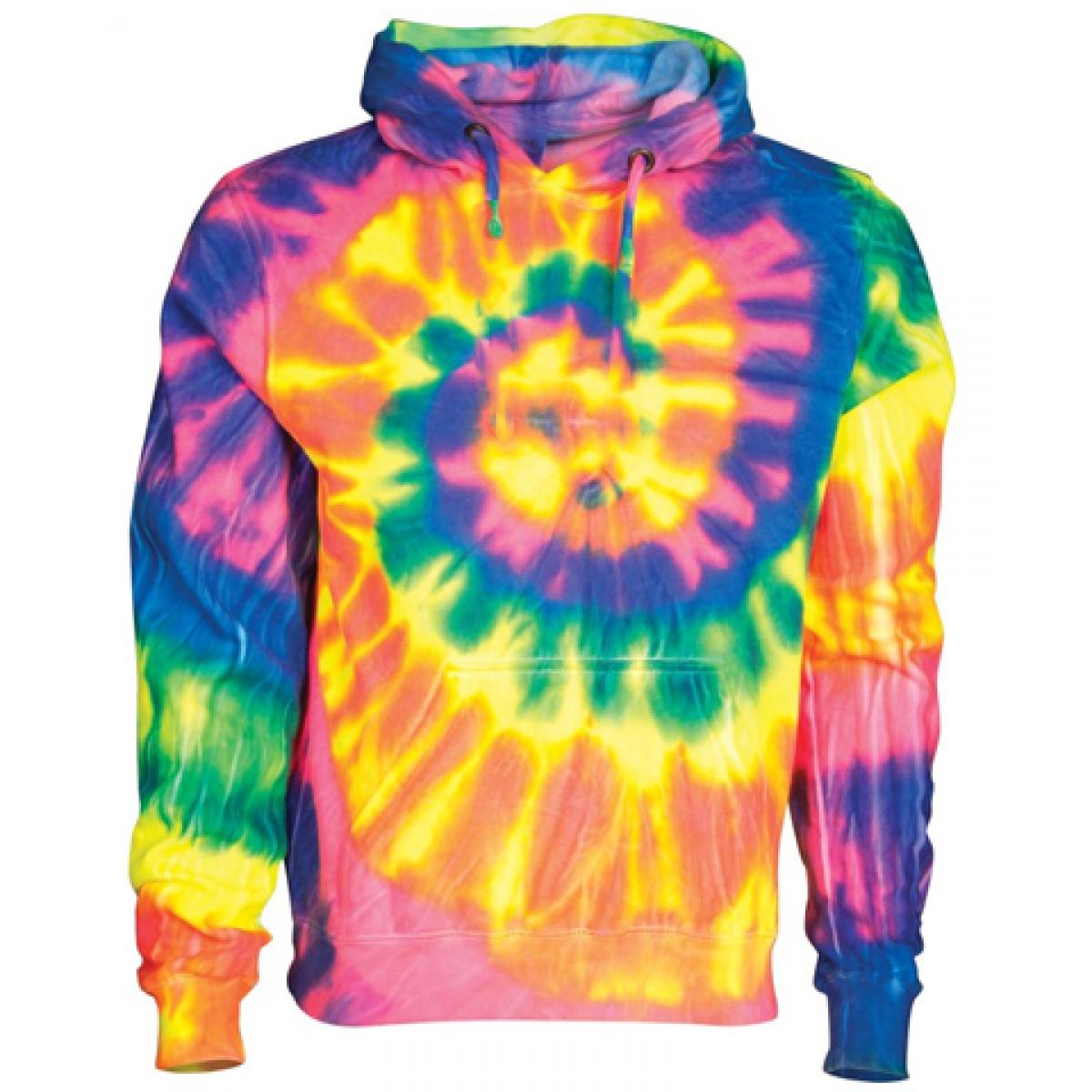 Multi Color Rainbow Tie-Dye Hoodie