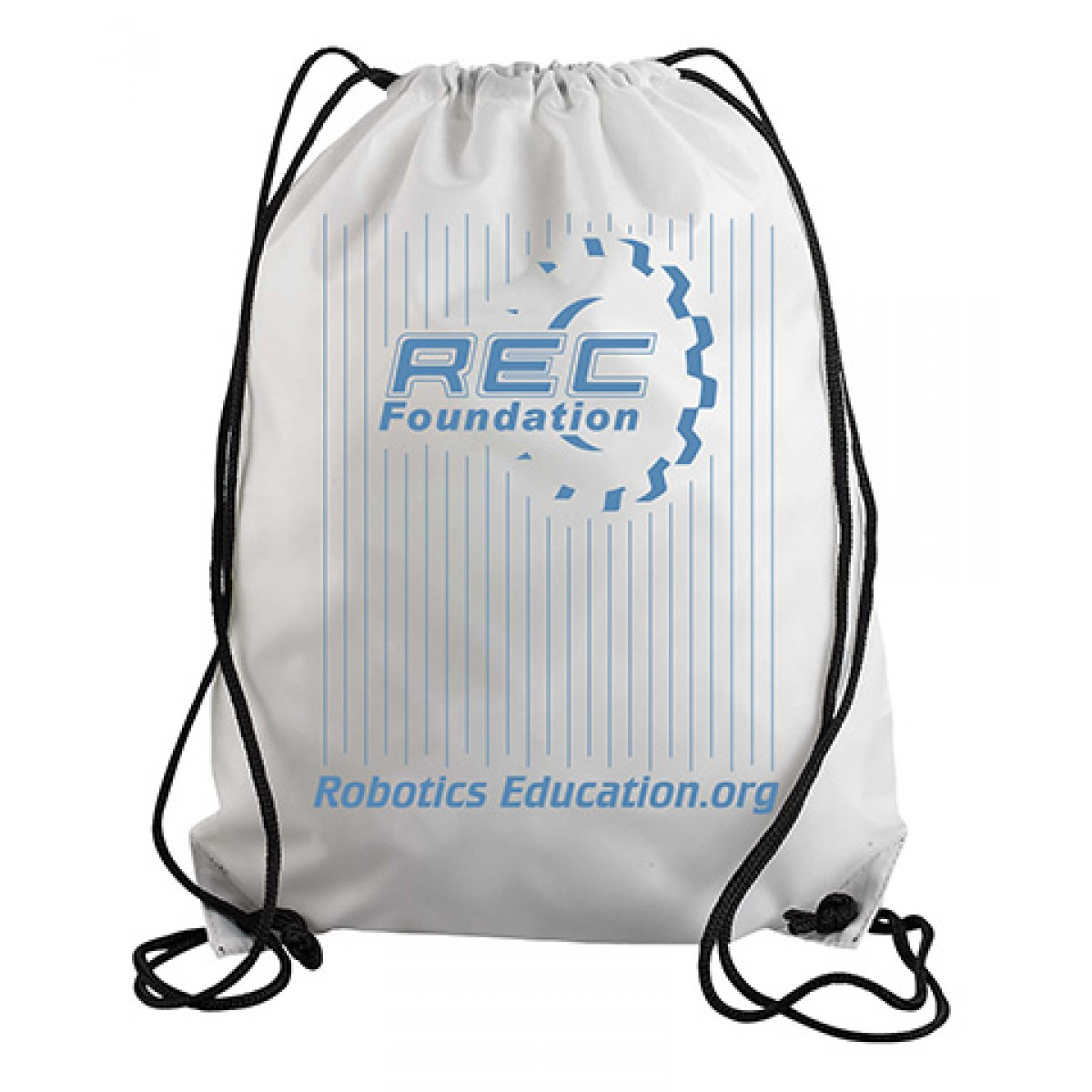 UltraClub Drawstring Backpack-White