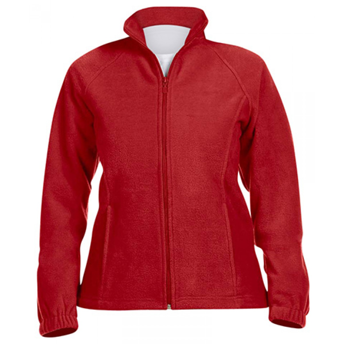 Ladies' 8 oz. Full-Zip Fleece-Red-XL