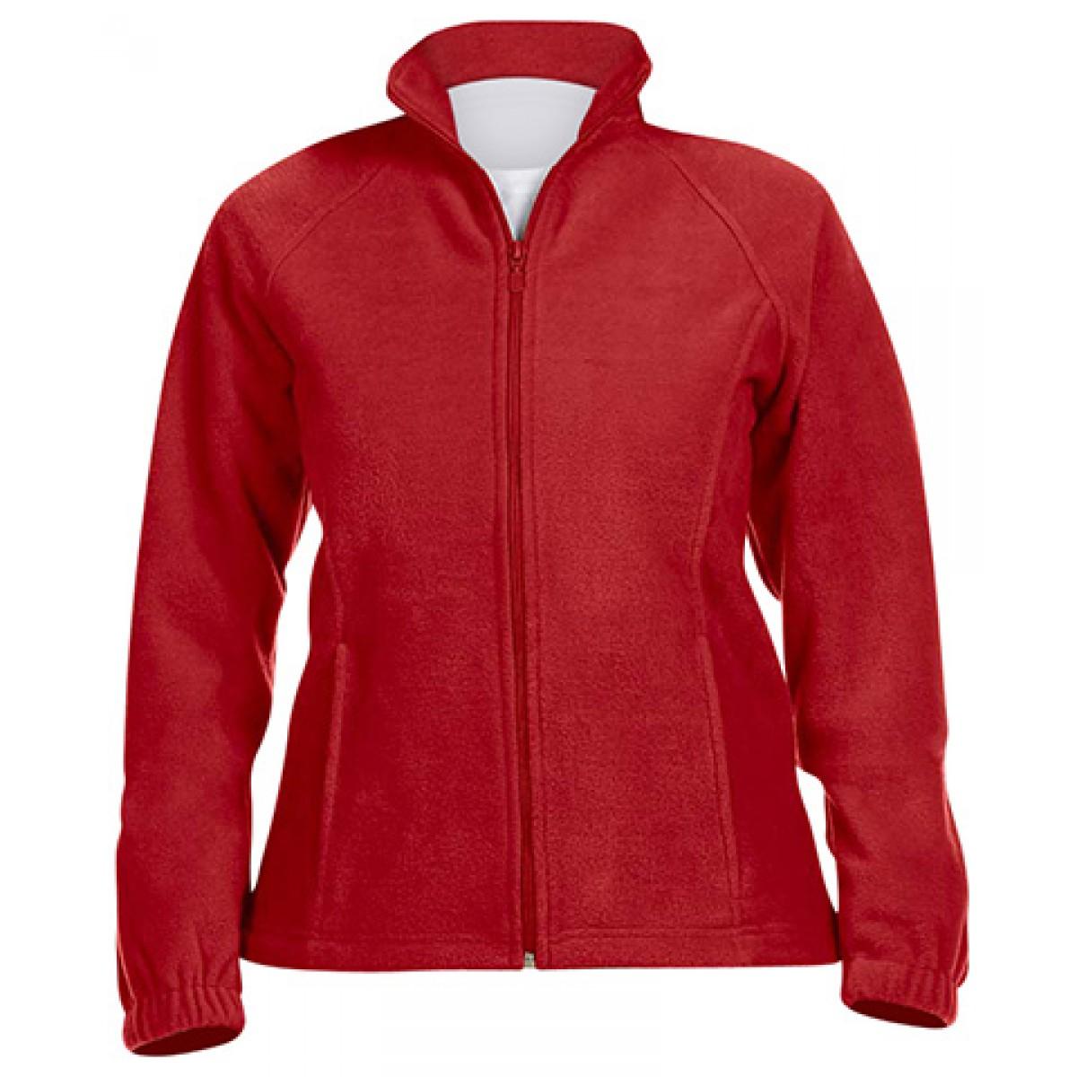 Ladies' 8 oz. Full-Zip Fleece-Red-S