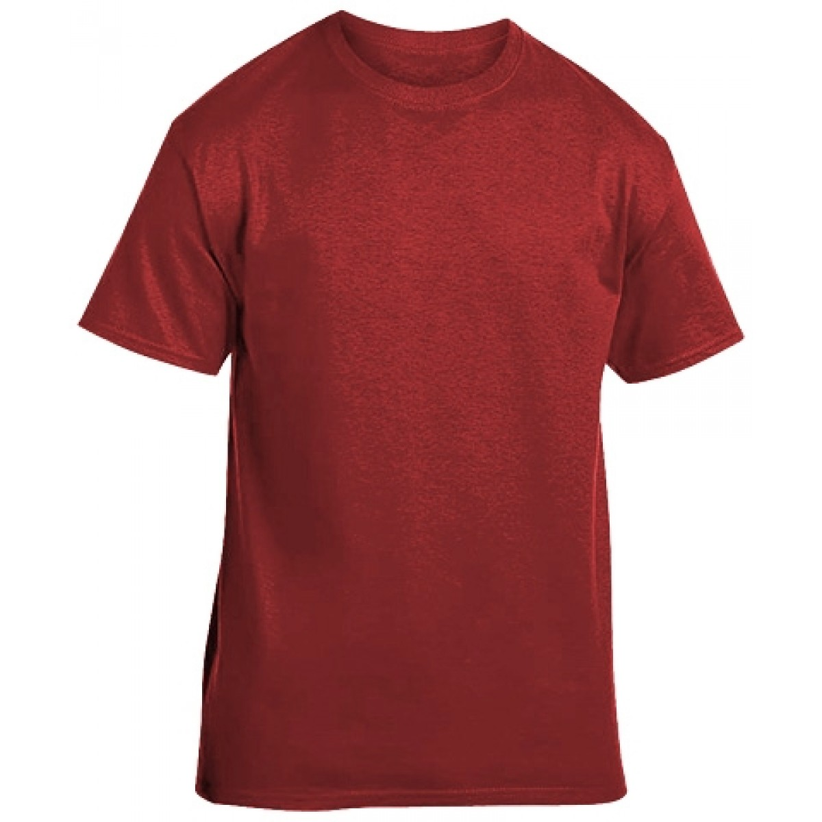 Soft 100% Cotton T-Shirt-Heathered Red-YL