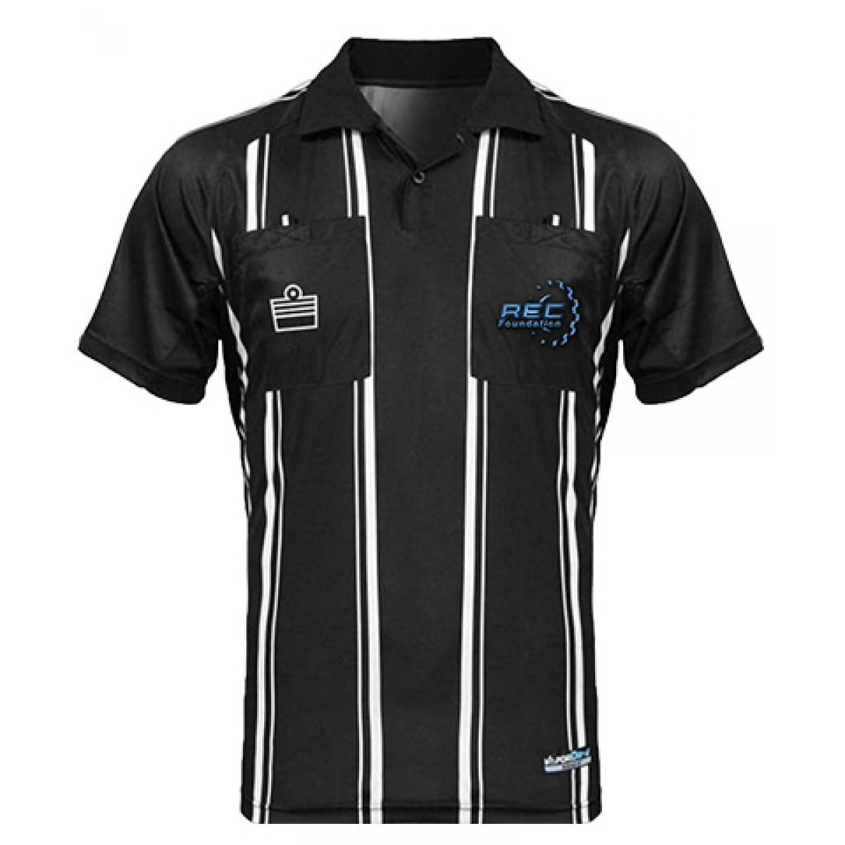 Admiral Pro Referee Jersey SS-Black-3XL