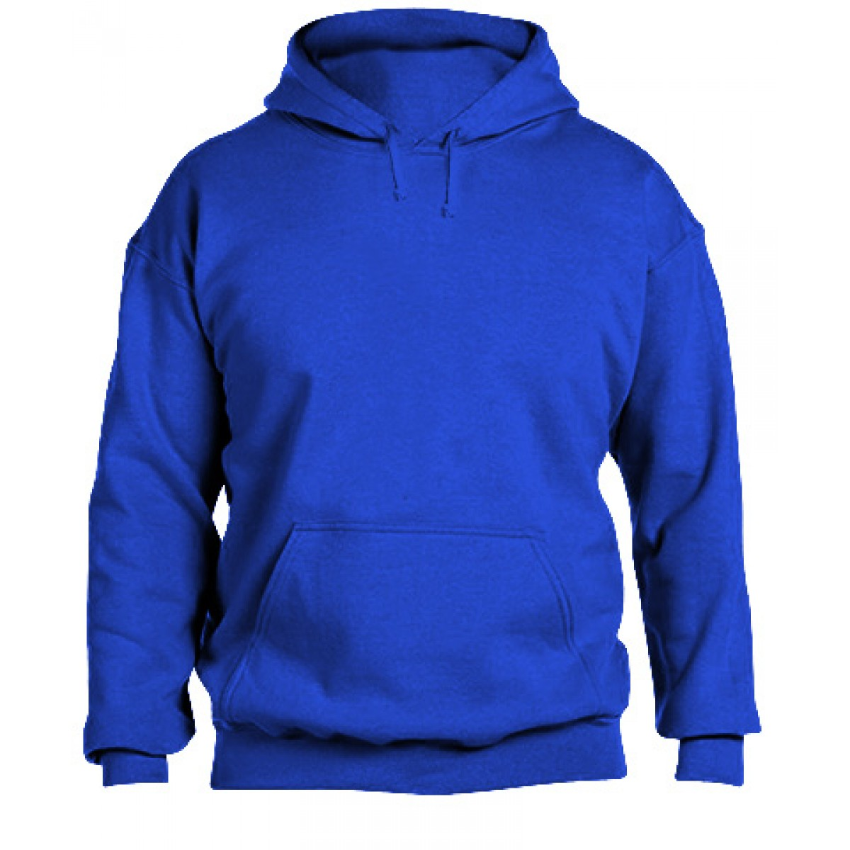 Jersey lined Adidas hood with flat Drawcord-Royal Blue-XL