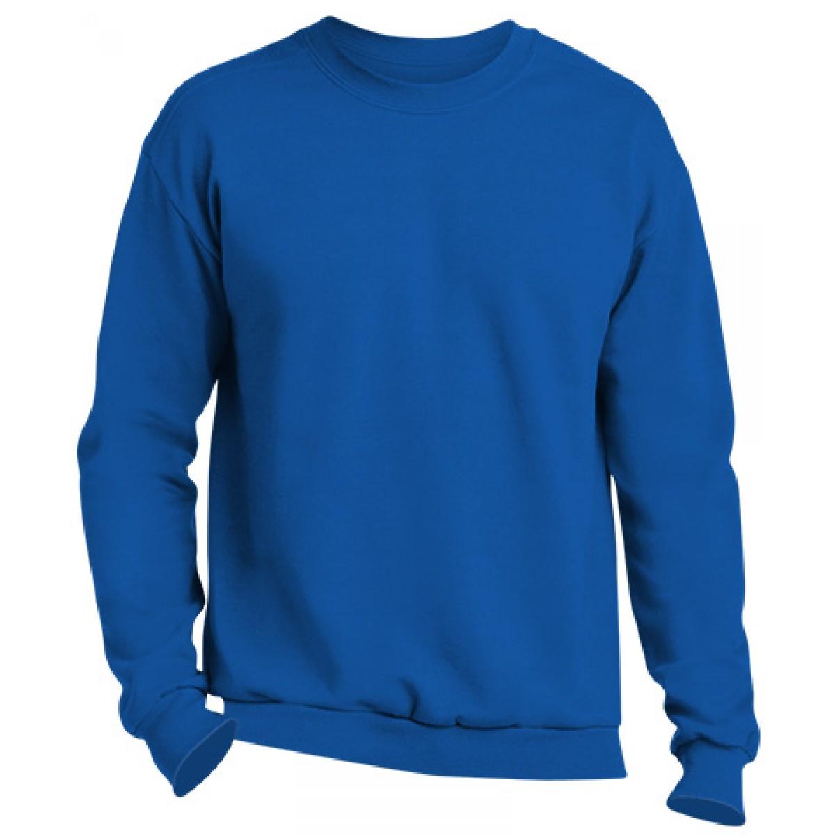 Crewneck Sweater -Royal Blue-2XL