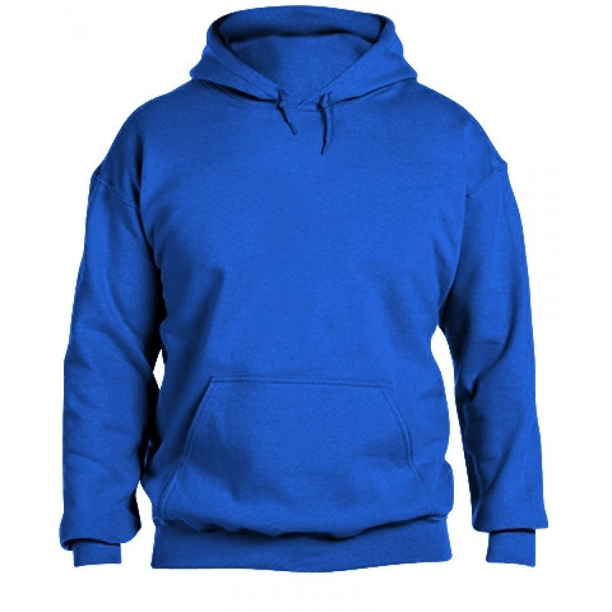 Solid Hooded Sweatshirt  50/50 Heavy Blend-Royal Blue-L