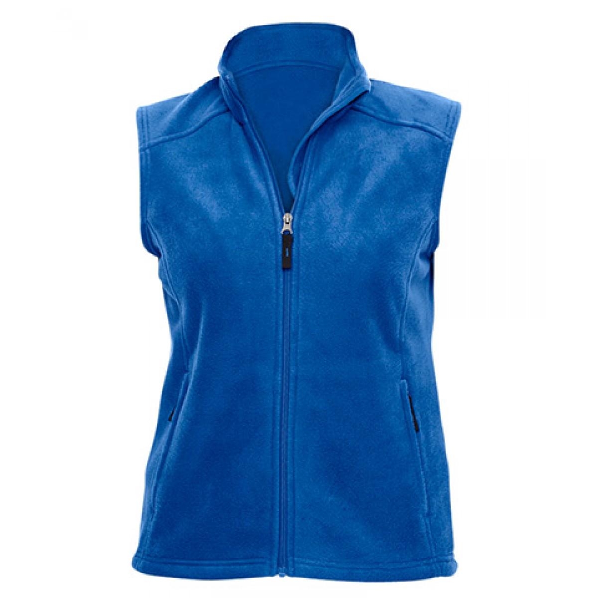 Ladies' Journey Fleece Vest-Blue-M
