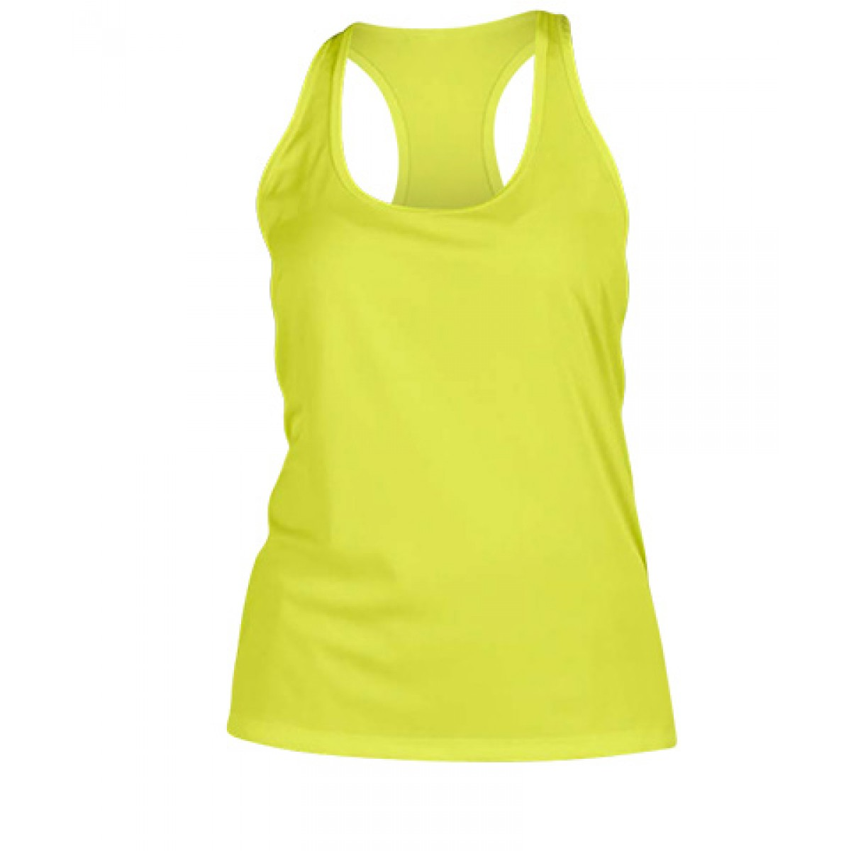 Ladies'  Sport Performance Racerback Tank-Safety Green-M