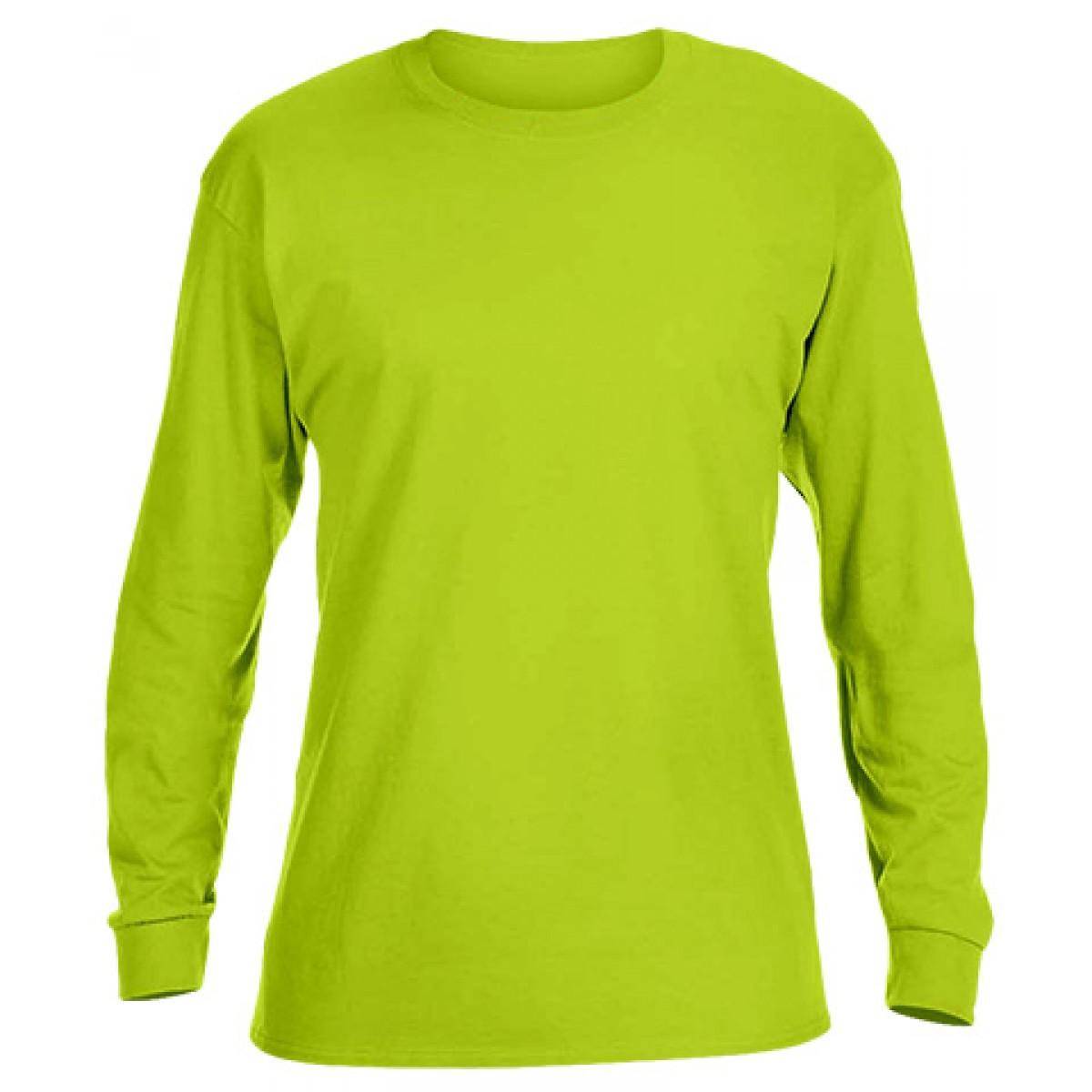 Ultra Cotton Long-Sleeve T-Shirt-Safety Green-L