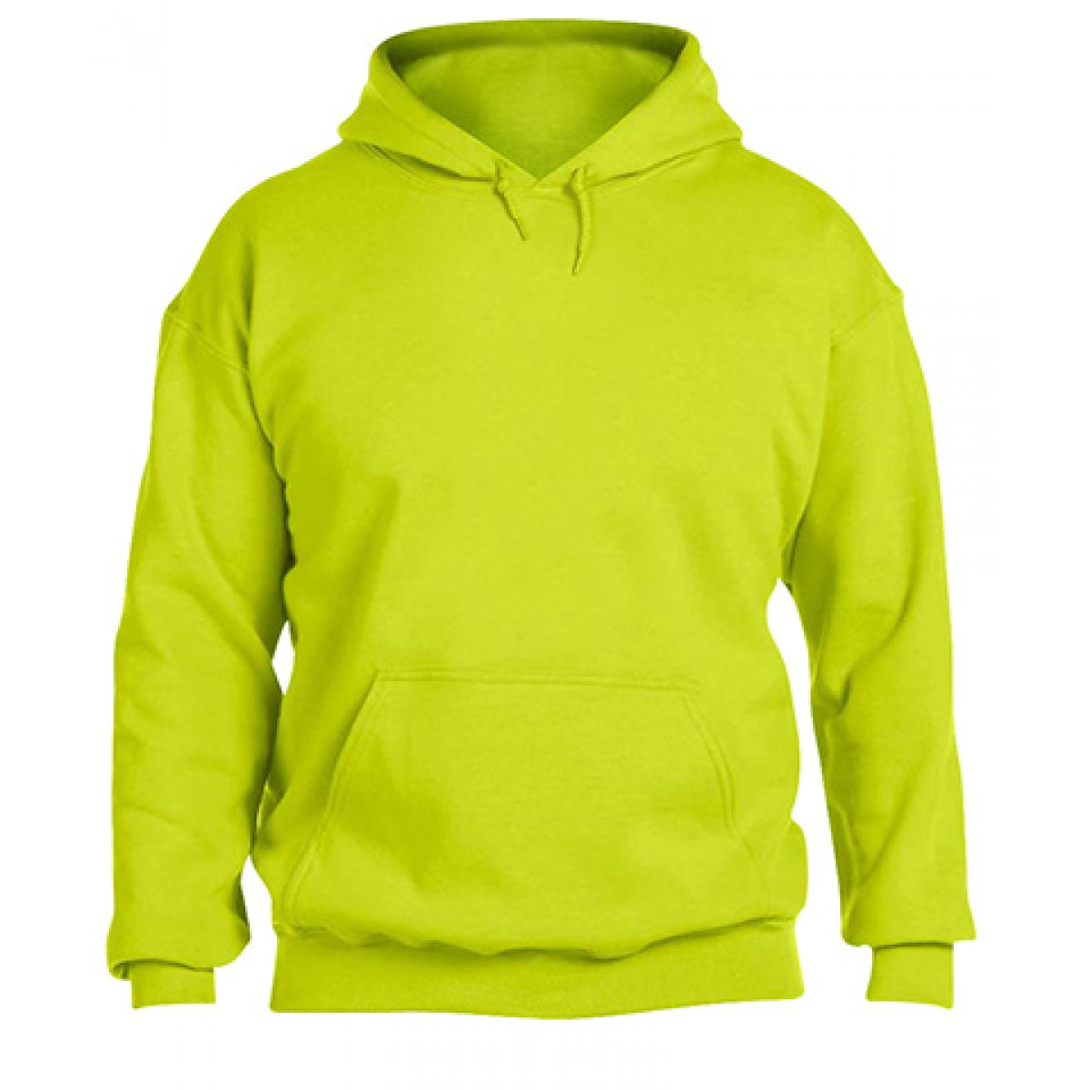 Solid Hooded Sweatshirt  50/50 Heavy Blend-Neon Green-M