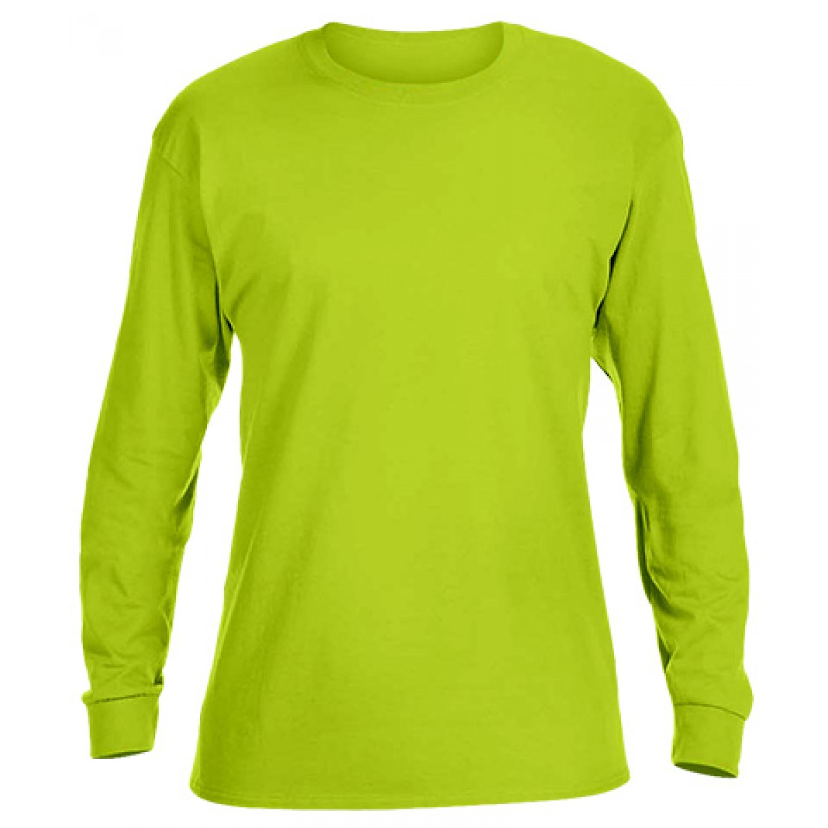 Ultra Cotton Long-Sleeve T-Shirt-Safety Green-M