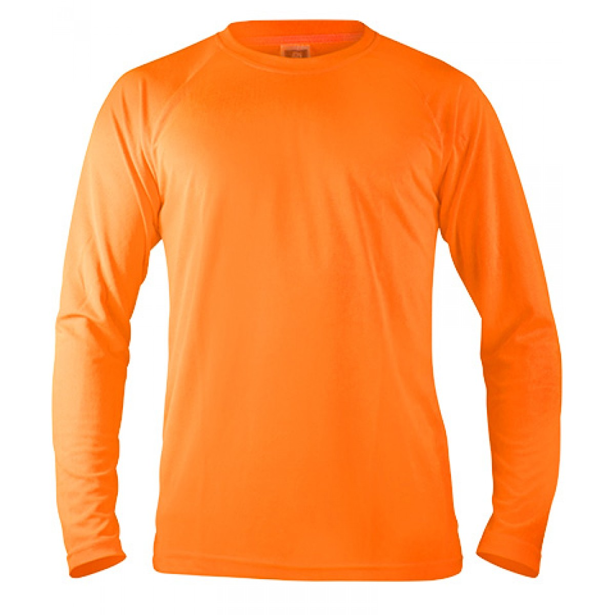 Long Sleeve Performance -Safety Orange-S