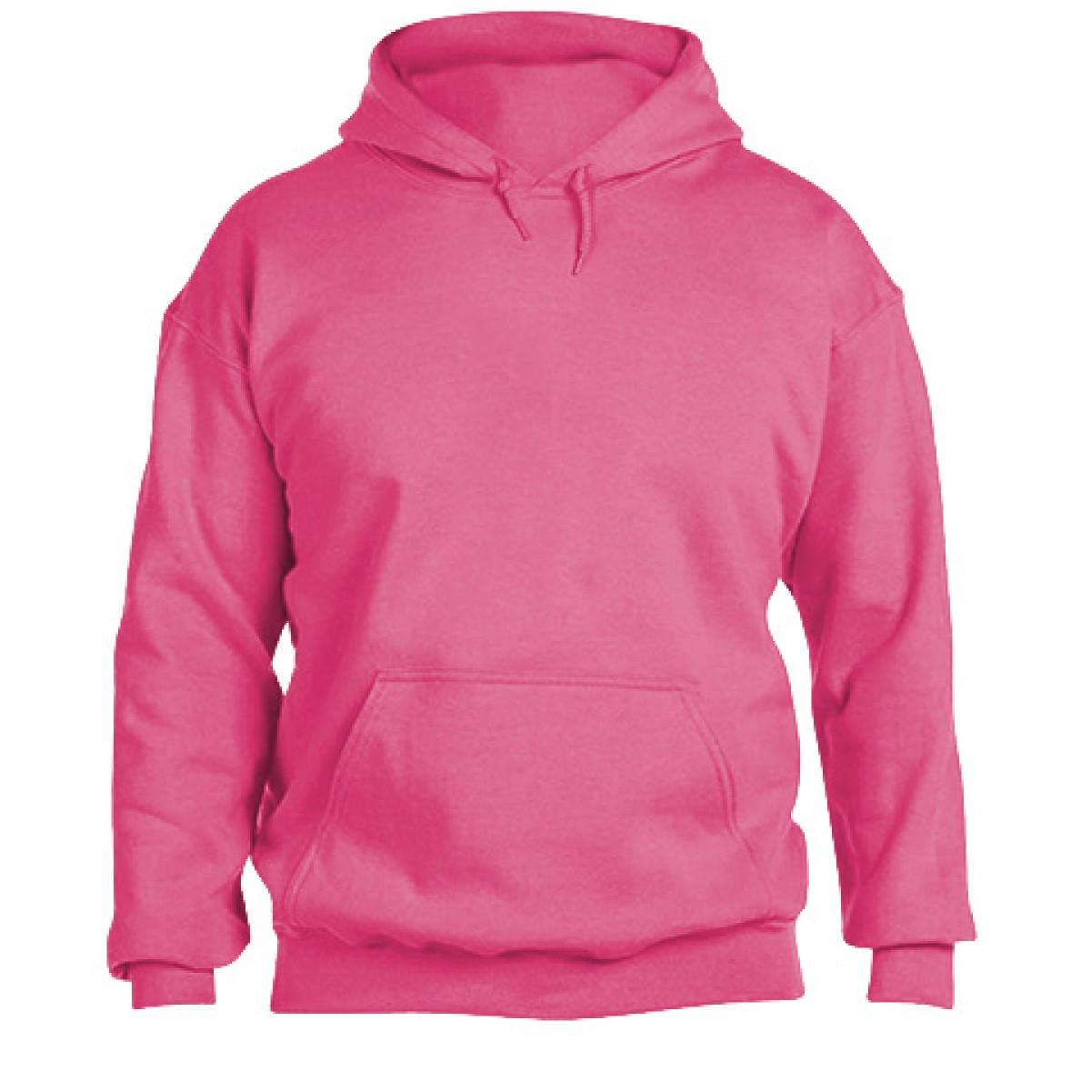 Hooded Sweatshirt 50/50 Heavy Blend -Safety Pink-L