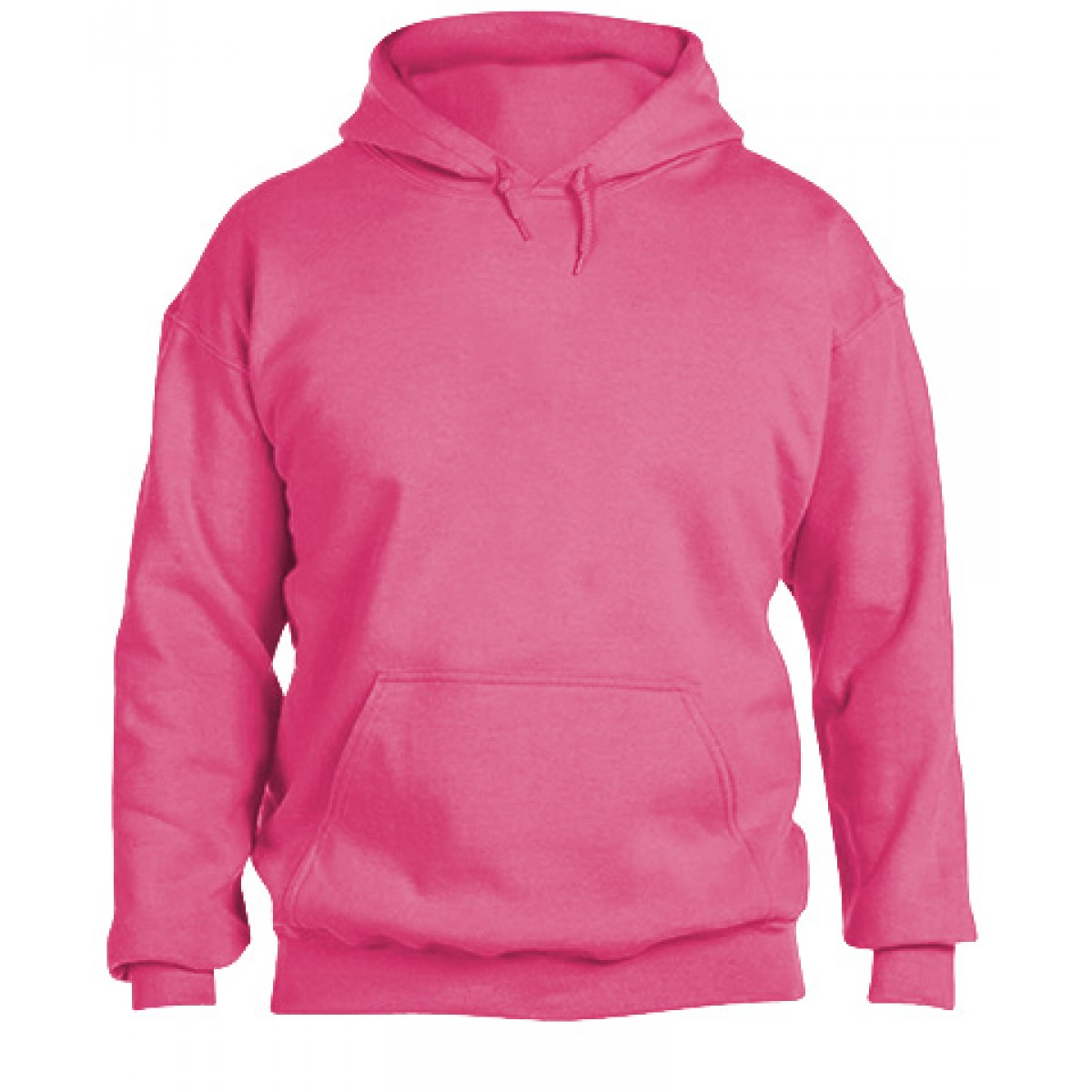 Hooded Sweatshirt 50/50 Heavy Safety Pink-Safety Pink-L