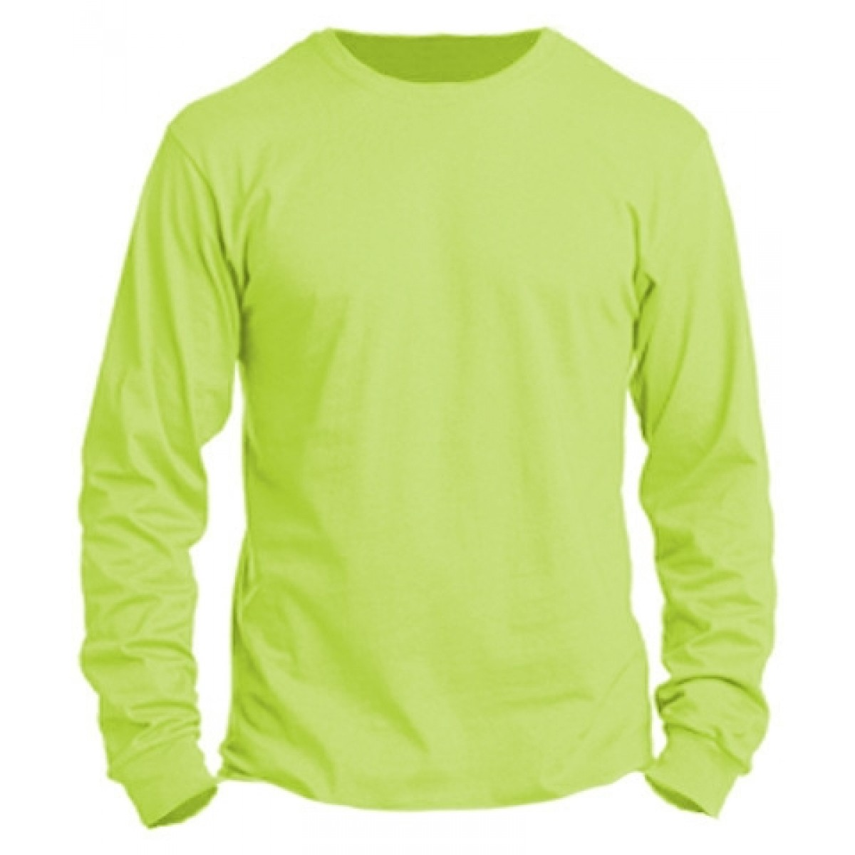 Basic Long Sleeve Crew Neck -Neon Green-M