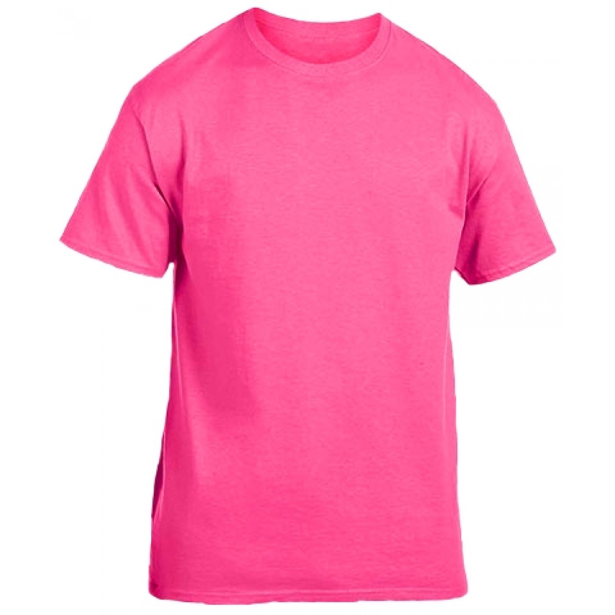 Cotton Short Sleeve T-Shirt / Safety Pink