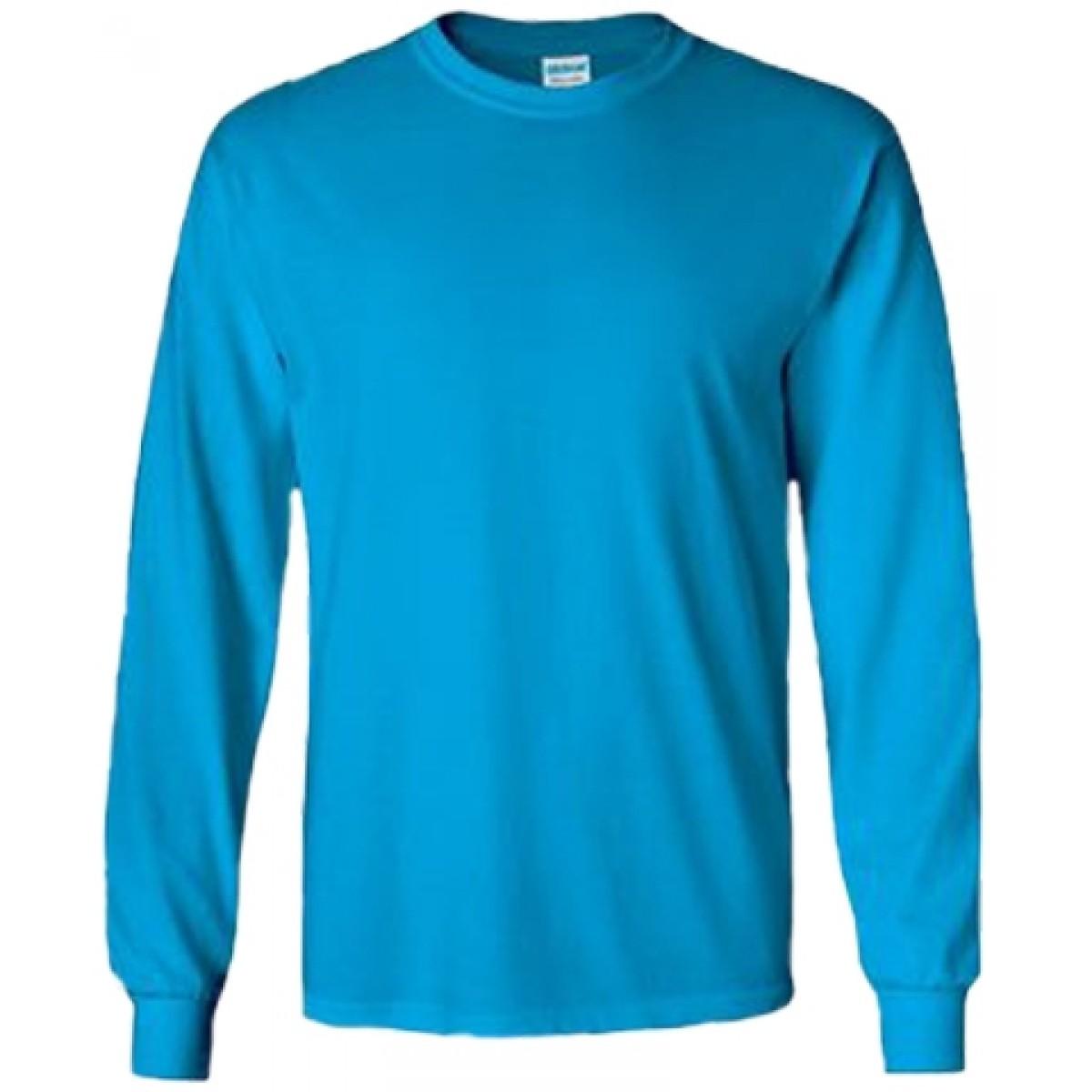 Cotton Long Sleeve T-Shirt / Sapphire