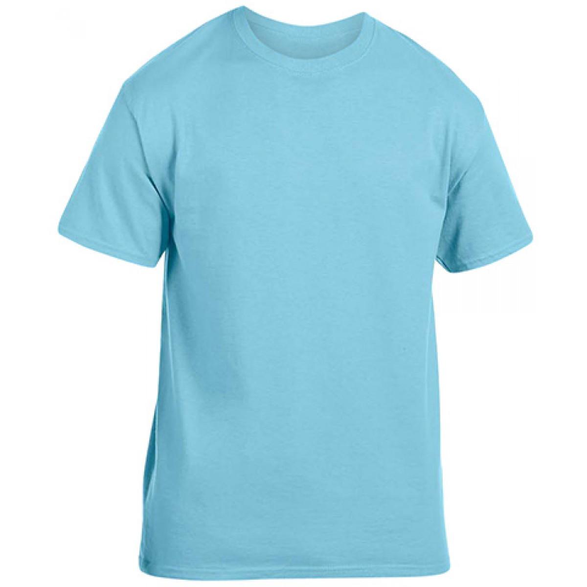 Soft 100% Cotton T-Shirt-Sky Blue-L