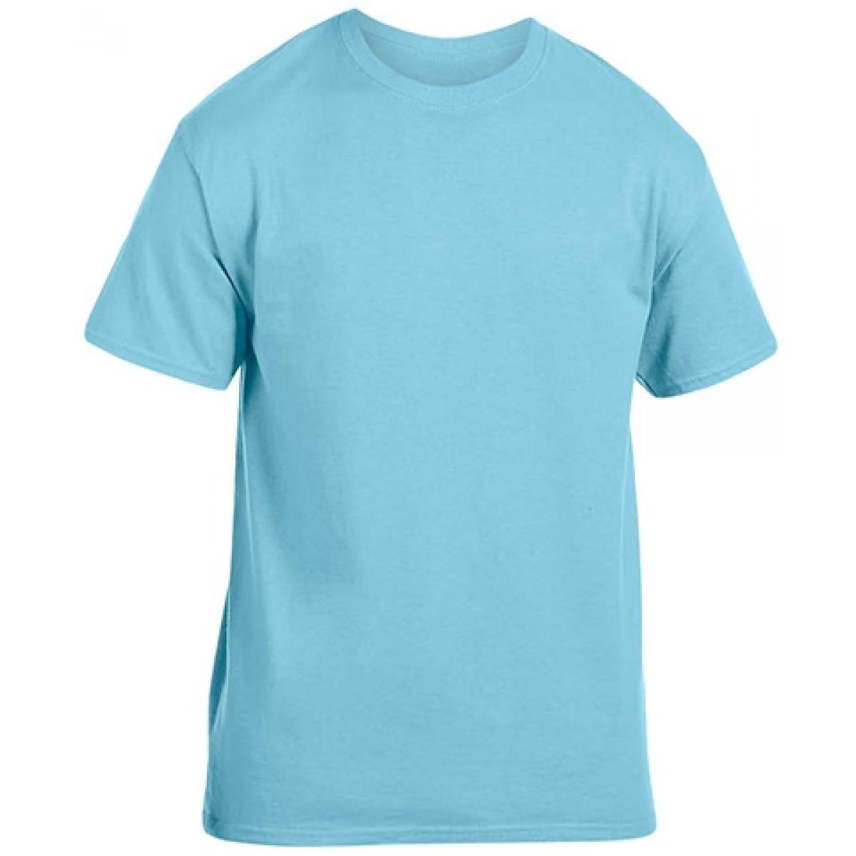 Soft 100% Cotton T-Shirt-Sky Blue-YM