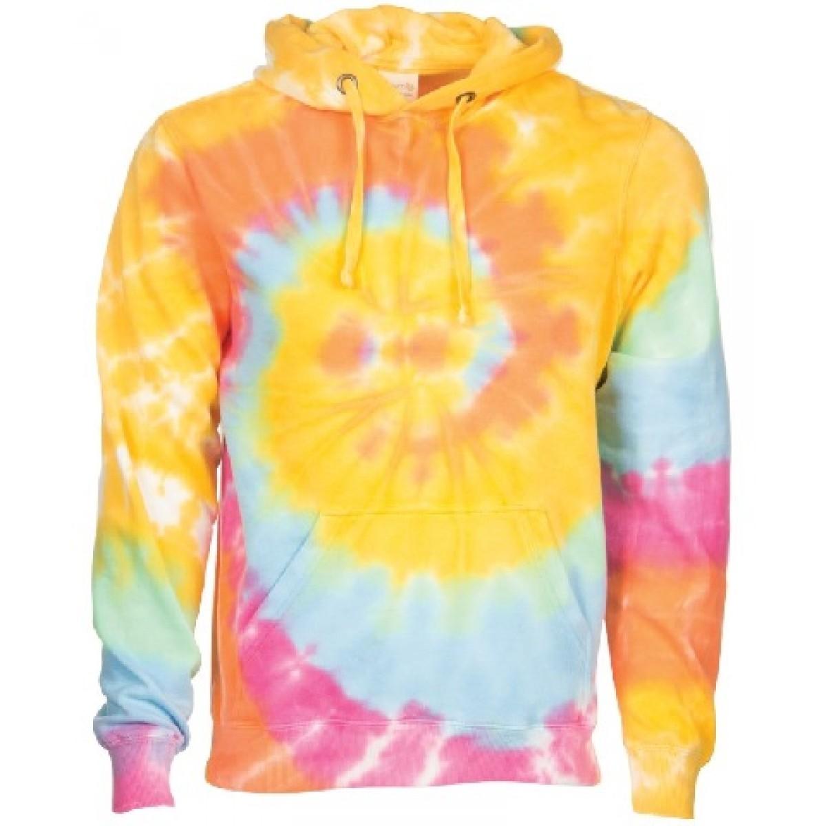 Spiral Tie Dye Hoodie-Multi -YS
