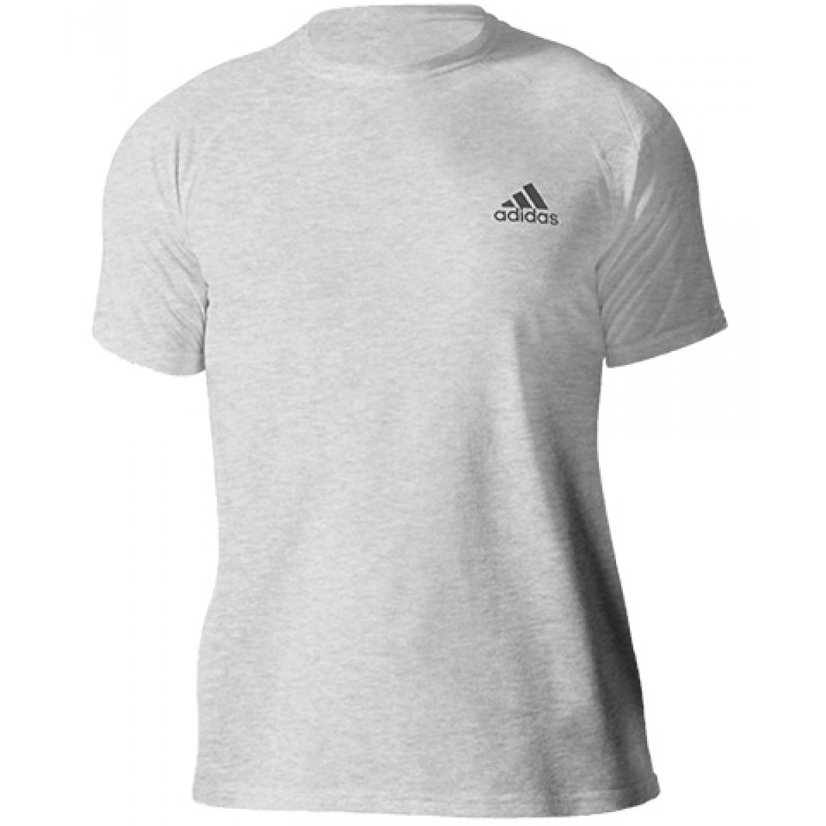 Adidas Embroidered Logo Essential Crew Neck T-shirt-Sports Grey-XL