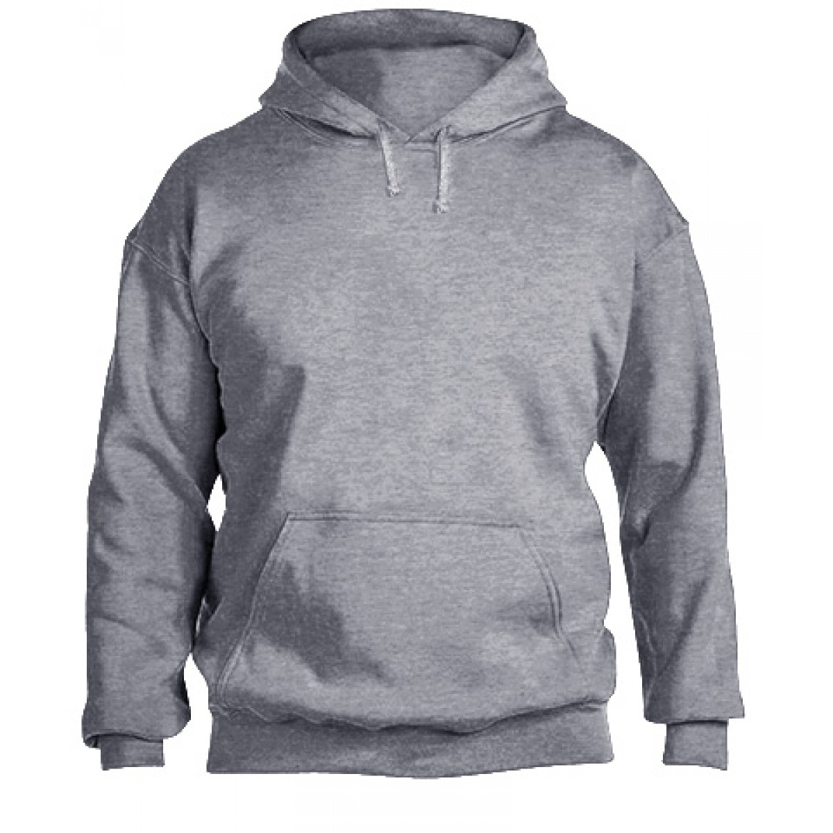 Jersey lined Adidas hood with flat Drawcord-Sports Grey-XL