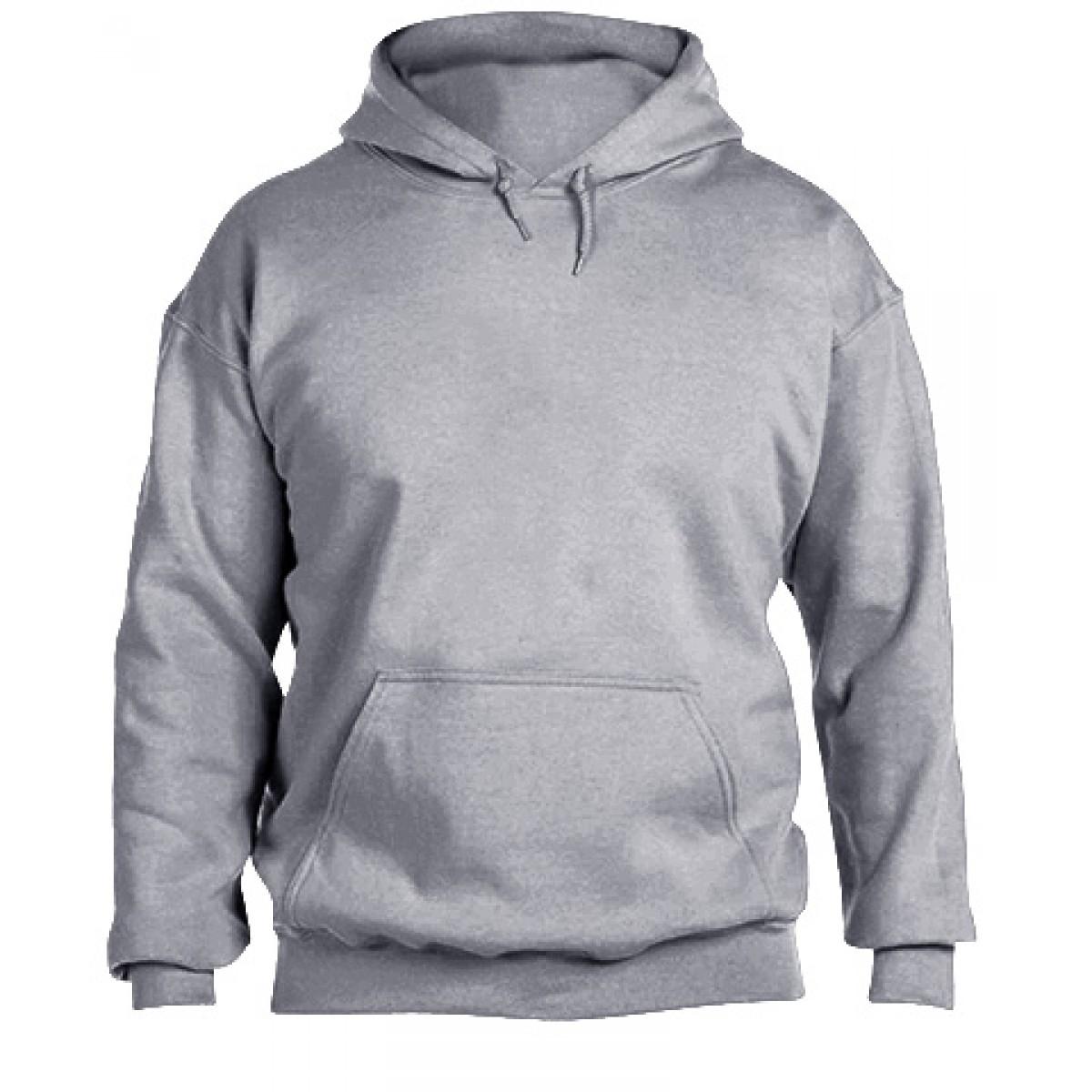 Hooded Sweatshirt  50/50 Heavy Blend-Ash Gray-YL