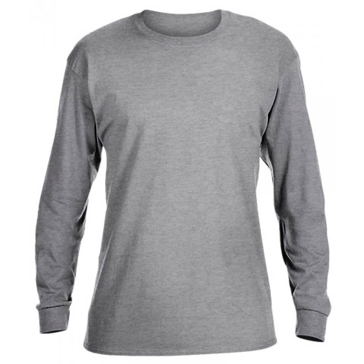 Heavy Cotton Long-Sleeve Adidas Shirt-Sports Grey-YL