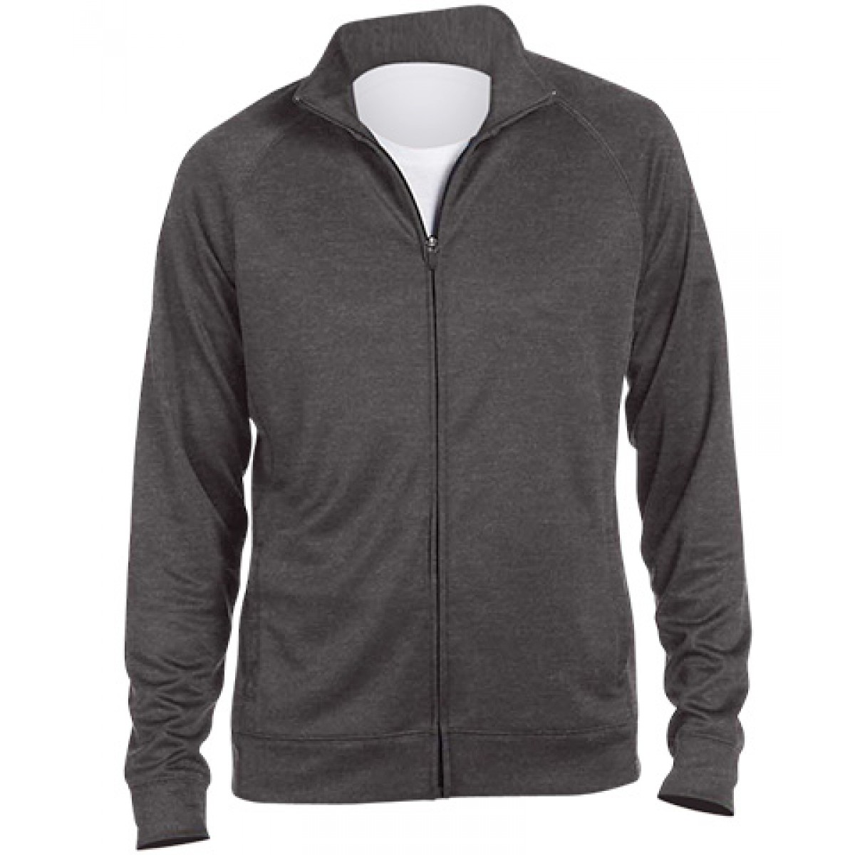 Embroidered Full Zip Grey Lightweight Sports Jacket