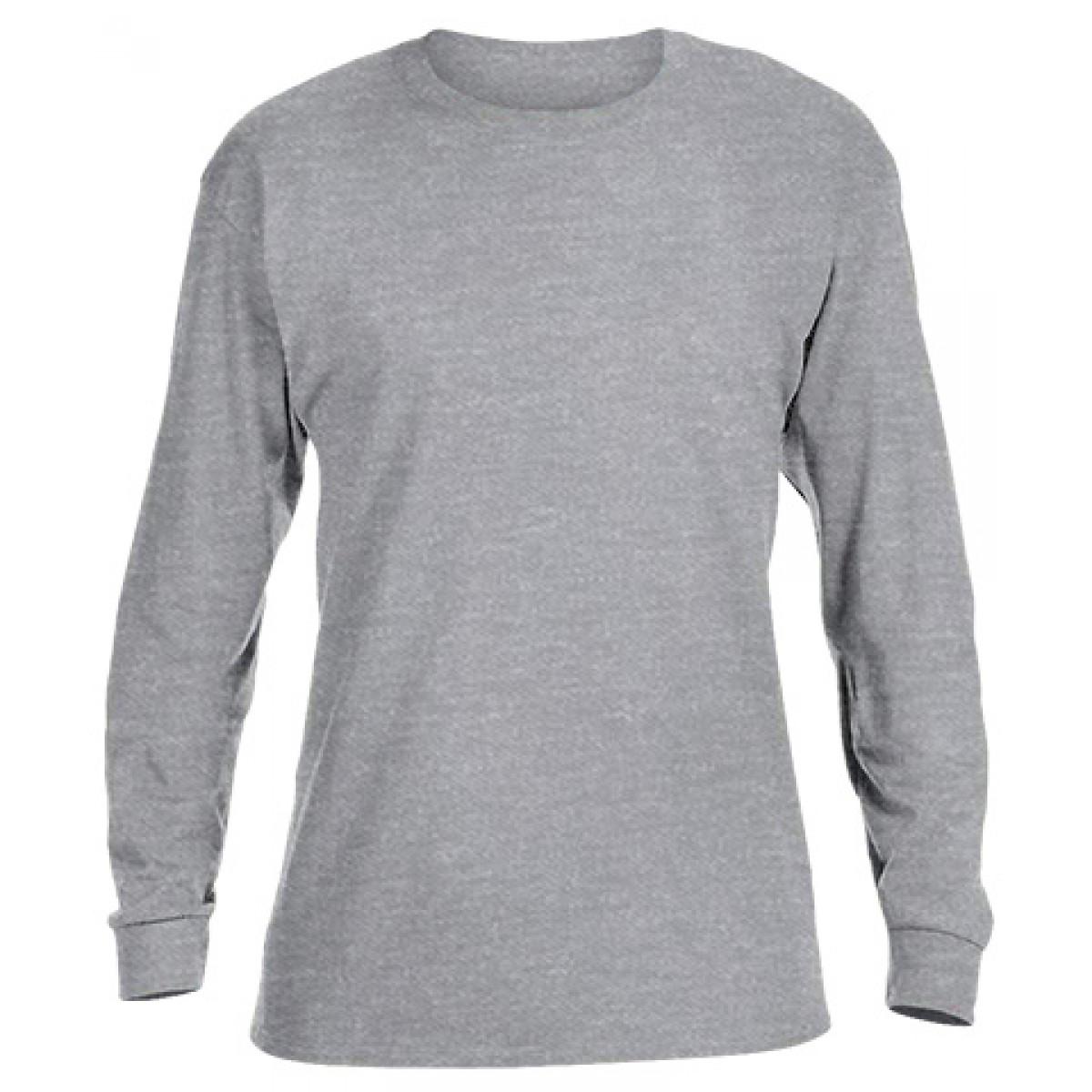 Basic Long Sleeve Crew Neck -Ash Gray-YL