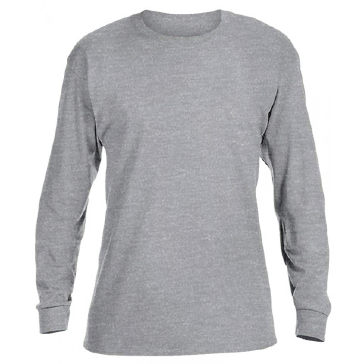 Basic Long Sleeve Crew Neck -Ash Gray-XL