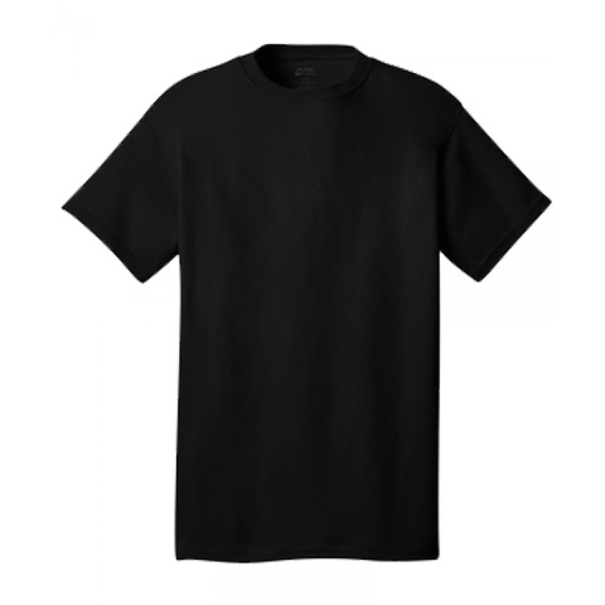 Cotton Short Sleeve T-Shirt-Black-L
