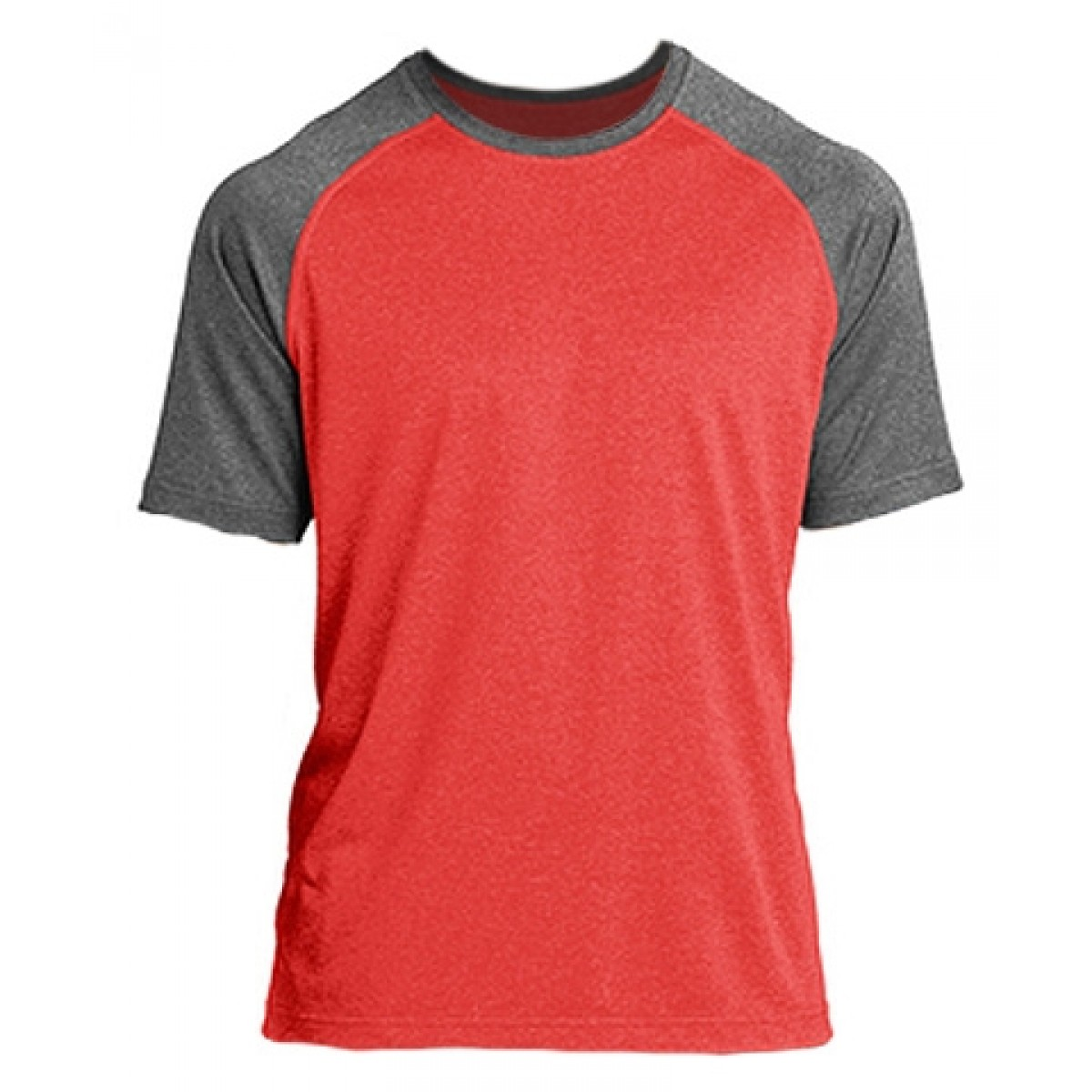 Heather on Heather Dri-Fit Tee-Heathered Red-XS