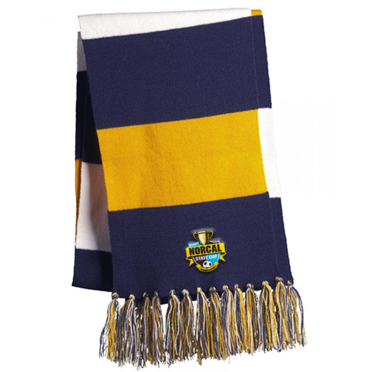 Embroidered Sport-Tek Spectator Scarf-Gold