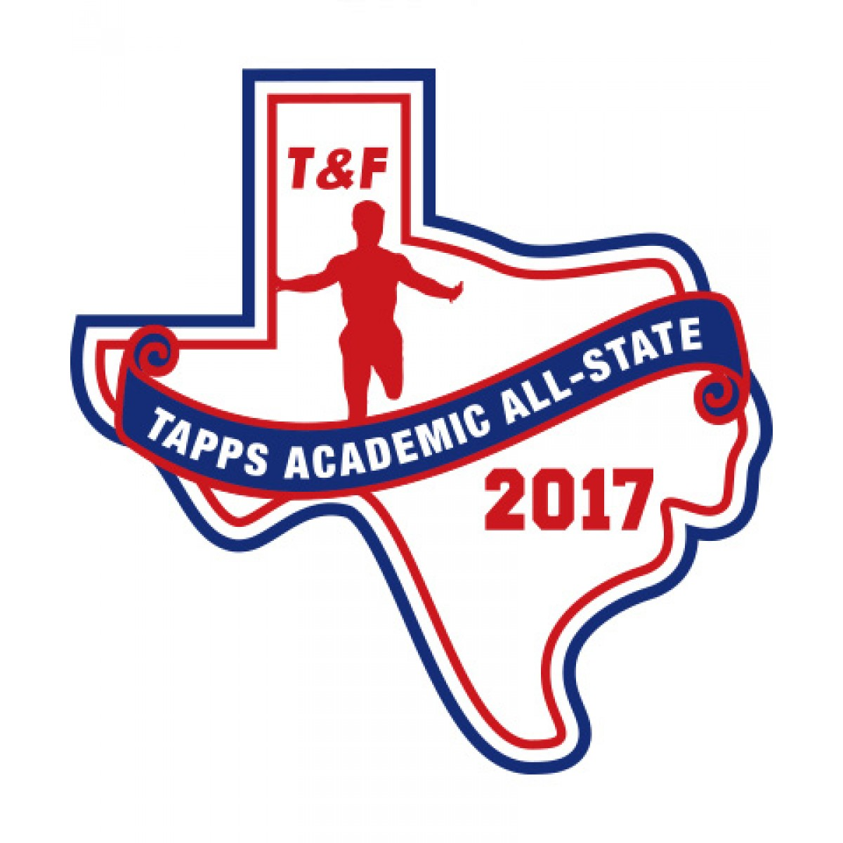 Felt 2017 TAPPS Academic All-State T&F Patch