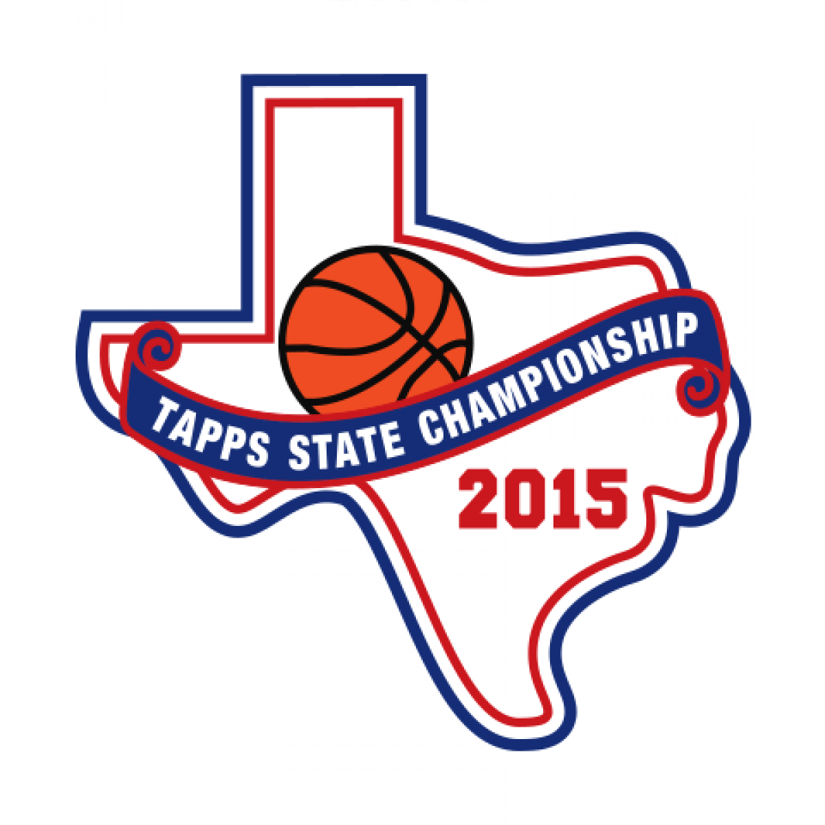 Chenille TAPPS 2015 Basketball State Patch