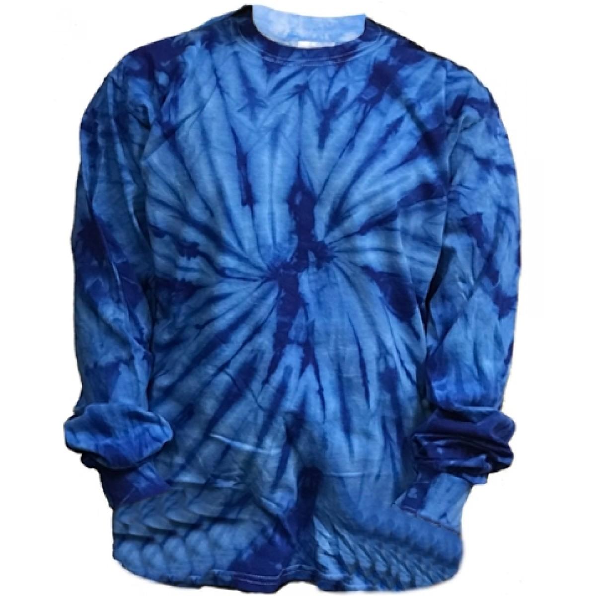 Cotton Long Sleeve T-Shirt / Tie Dye Blue