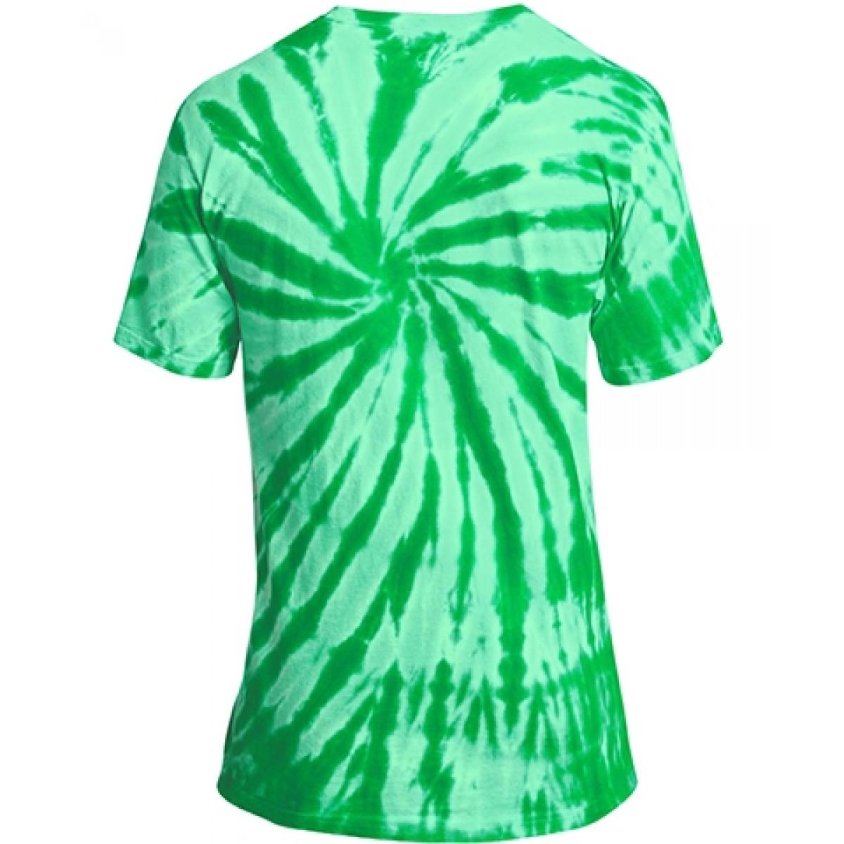 Essential Tie-Dye Tee-Green-YM
