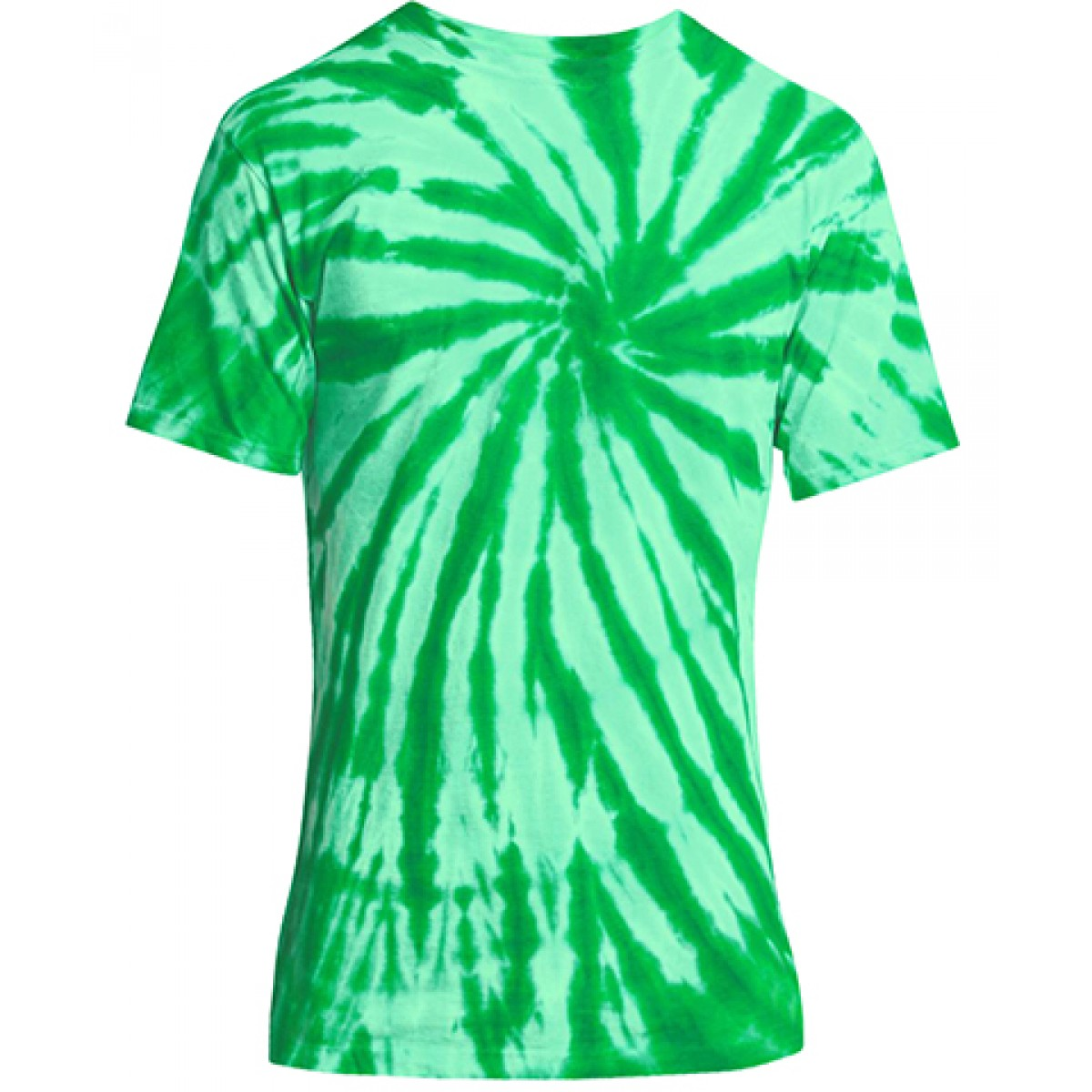 Essential Tie-Dye Tee-Green-3XL
