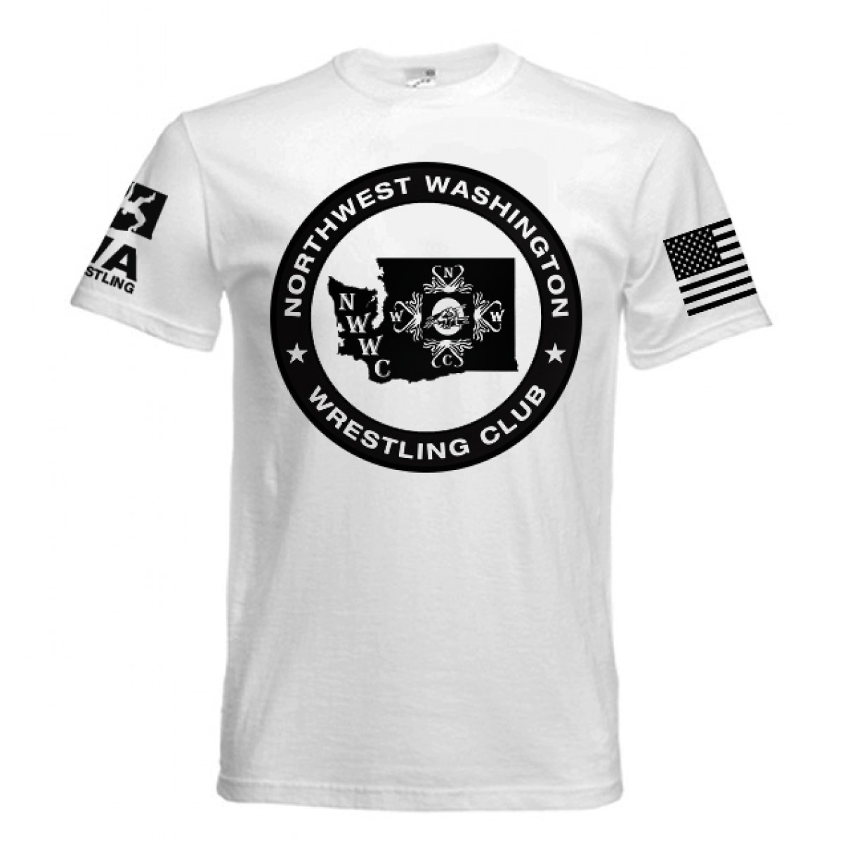 NWWC White T-shirt Black Logo-White-2XL
